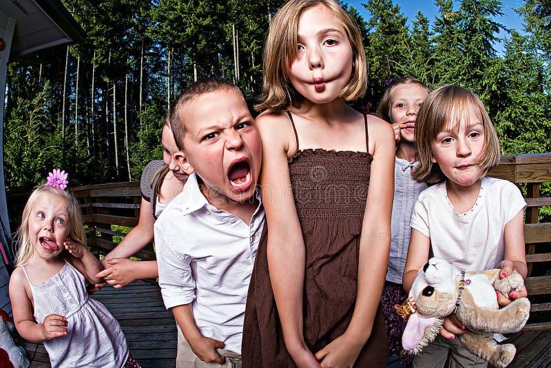滑稽的孩子 库存照片