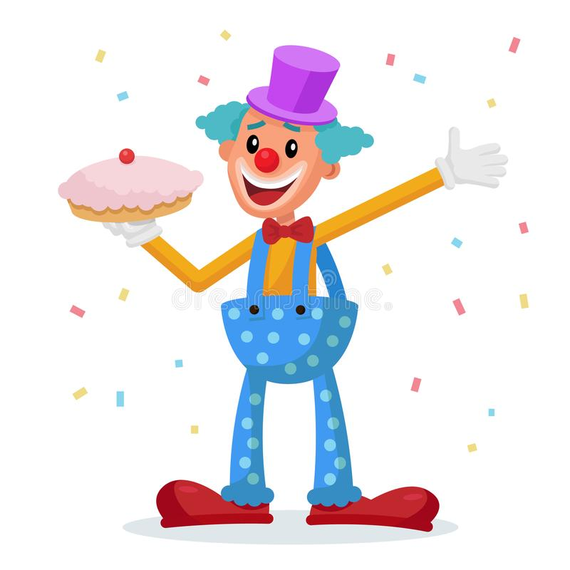 滑稽的小丑传染媒介 装饰象 把戏服装 马戏展示 漫画人物例证 向量例证