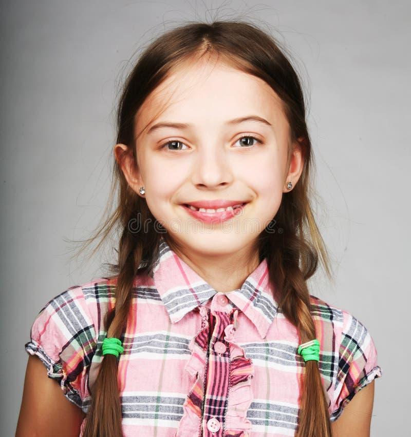 滑稽的小女孩 免版税库存图片