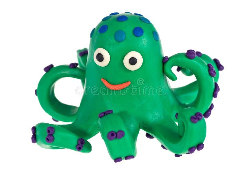 滑稽的彩色塑泥章鱼 免版税库存图片