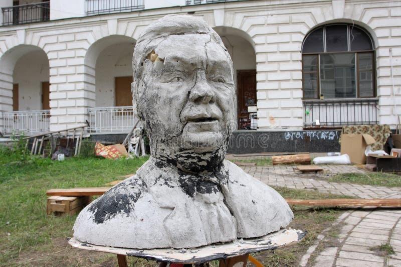 滑稽的总统雕塑乌克兰语 免版税图库摄影