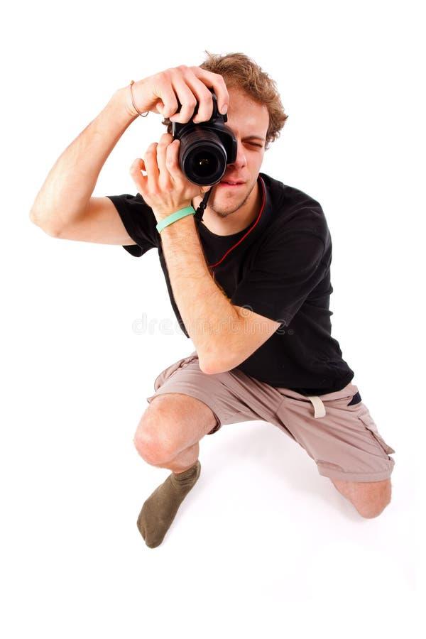 滑稽的摄影师 库存照片