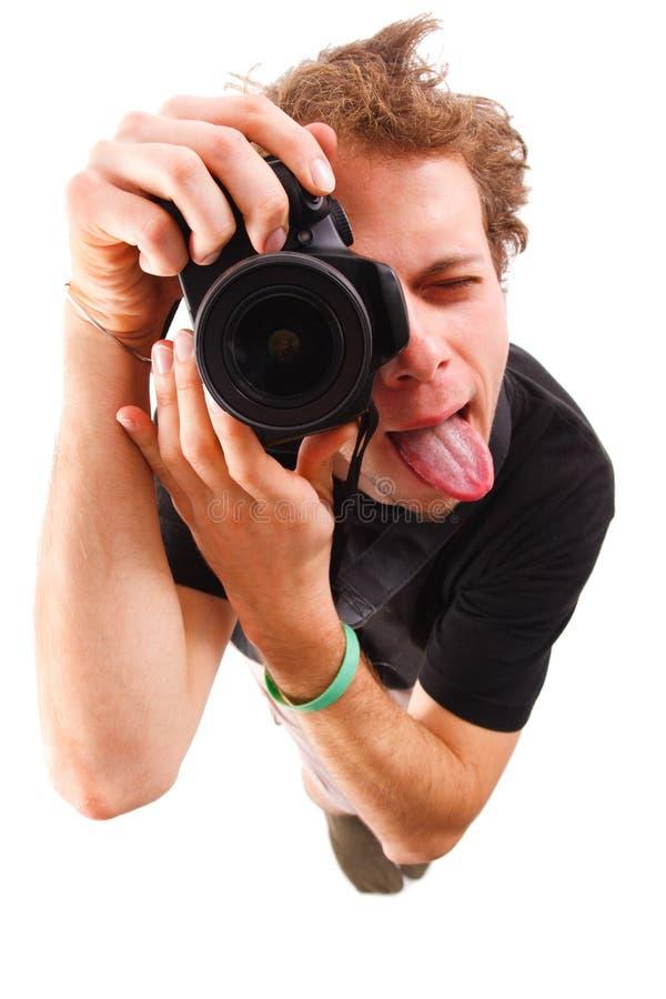 滑稽的摄影师 免版税图库摄影