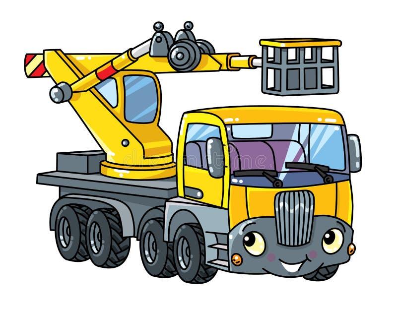 滑稽的望远镜景气推力汽车或卡车 皇族释放例证