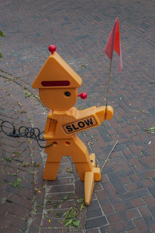 滑稽的木偶知道孩子在阿姆斯特丹荷兰 库存图片