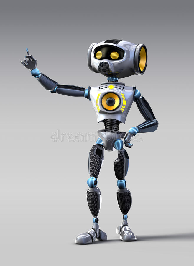 滑稽的机器人 免版税库存照片
