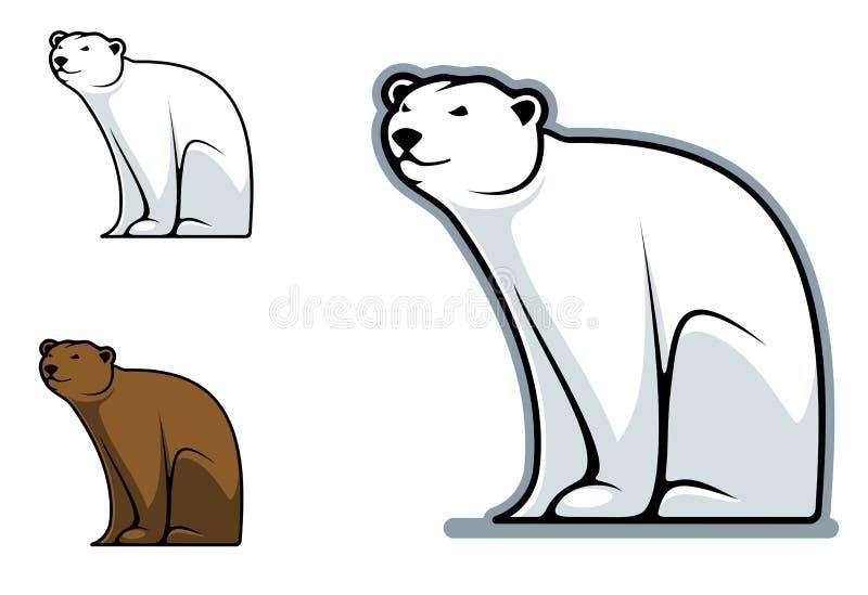 滑稽的熊 皇族释放例证