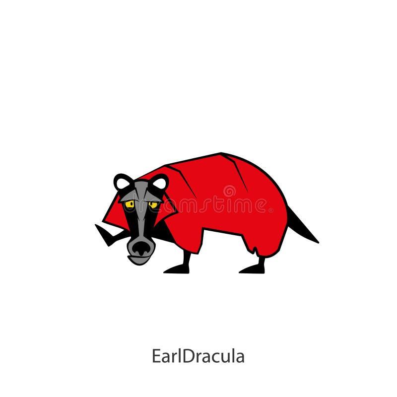 滑稽的狂放的獾颜色2 库存例证