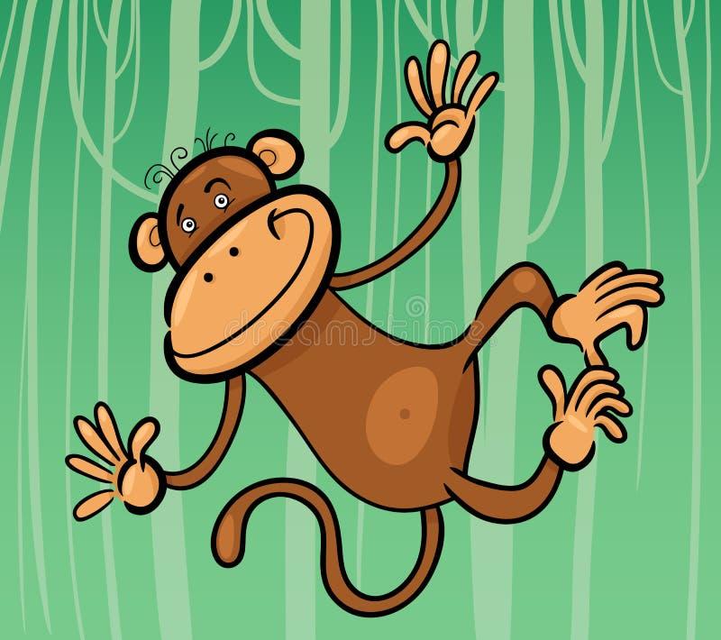 滑稽的猴子的动画片例证 皇族释放例证