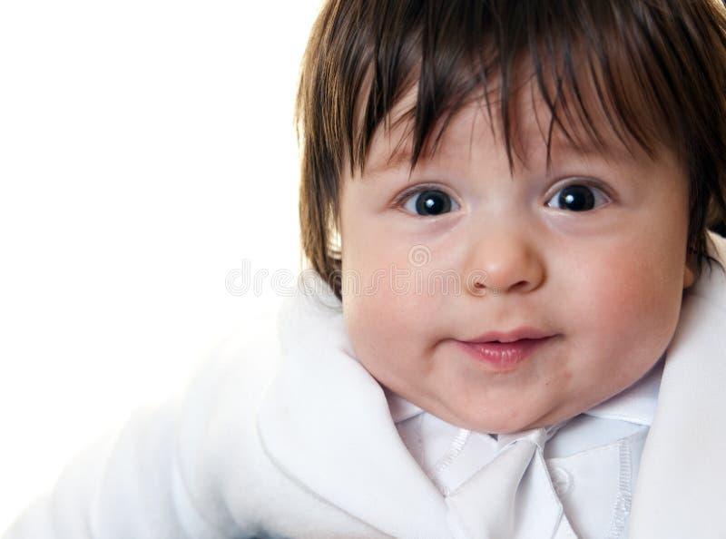 滑稽的男婴 库存图片