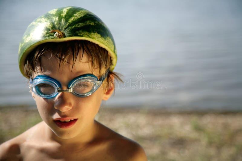 滑稽的男孩 免版税库存照片