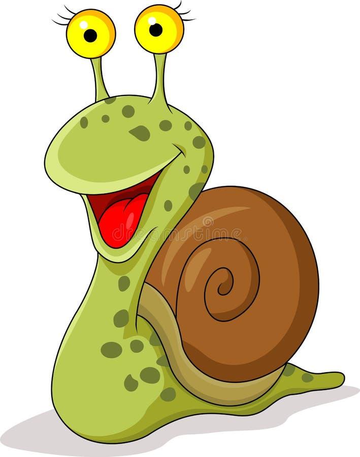 滑稽的蜗牛动画片 库存例证