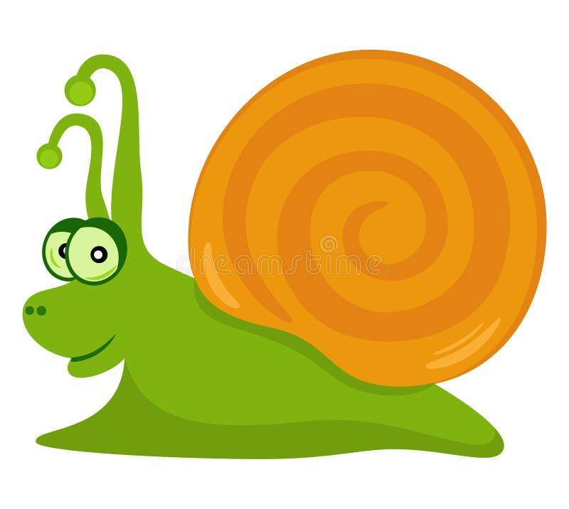 滑稽的蜗牛 向量例证