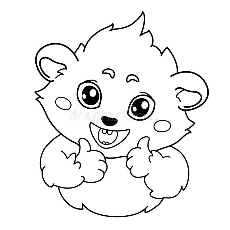 滑稽的豚鼠是显示认同姿态  向量例证
