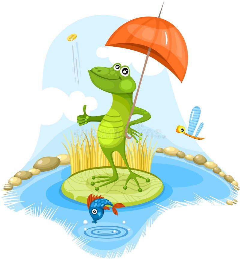 滑稽的青蛙 向量例证