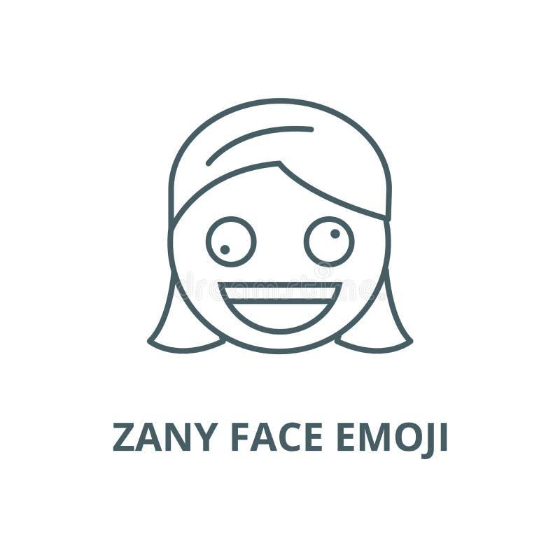 滑稽的面孔emoji传染媒介线象,线性概念,概述标志,标志 向量例证
