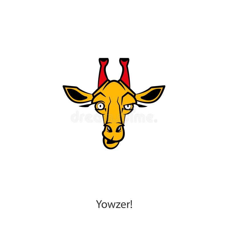滑稽的顶头长颈鹿颜色 库存例证