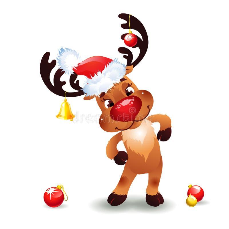 滑稽的驯鹿圣诞节 免版税库存图片