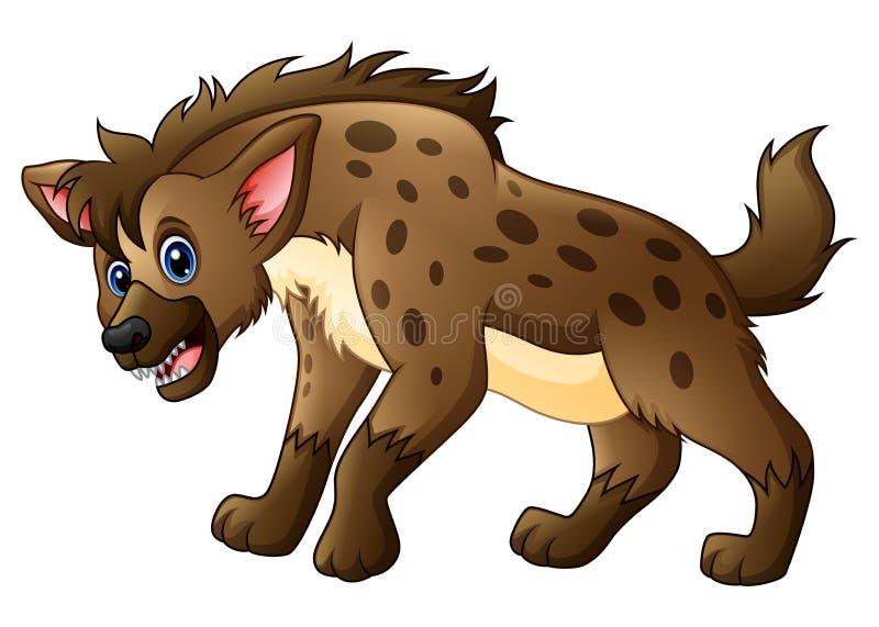 滑稽的鬣狗动画片 皇族释放例证
