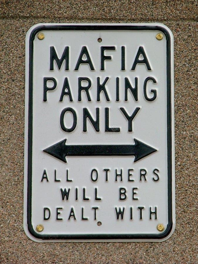 滑稽的黑手党符号警告 免版税库存图片