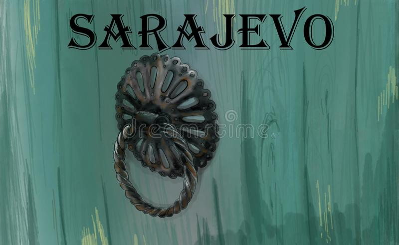 滑稽萨拉热窝的zvekir 皇族释放例证