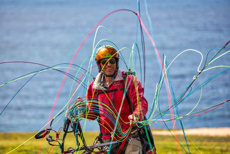 滑翔伞喜悦  库存照片