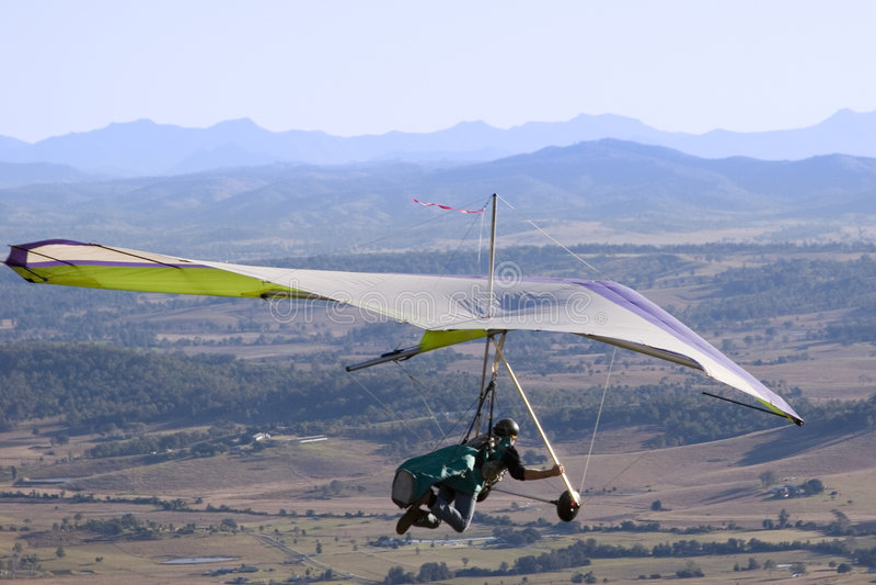 滑翔机吊 免版税库存图片