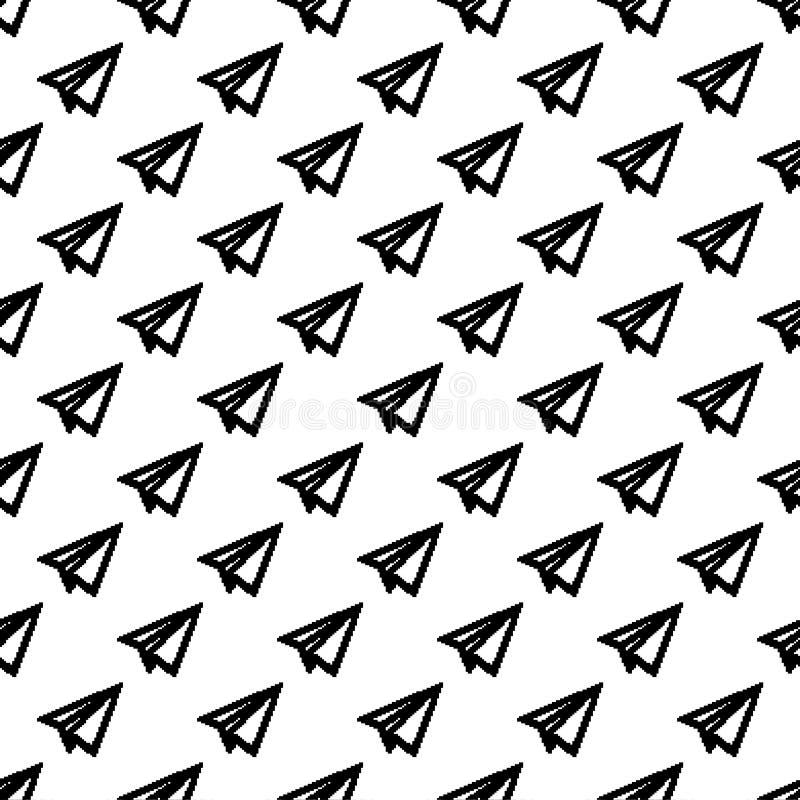 滑翔机纸样式摘要几何墙纸 传染媒介Illust 向量例证