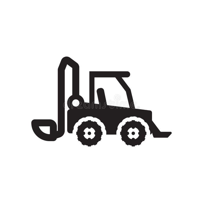 滑行装载者象 在白色backg的时髦滑行装载者商标概念 向量例证