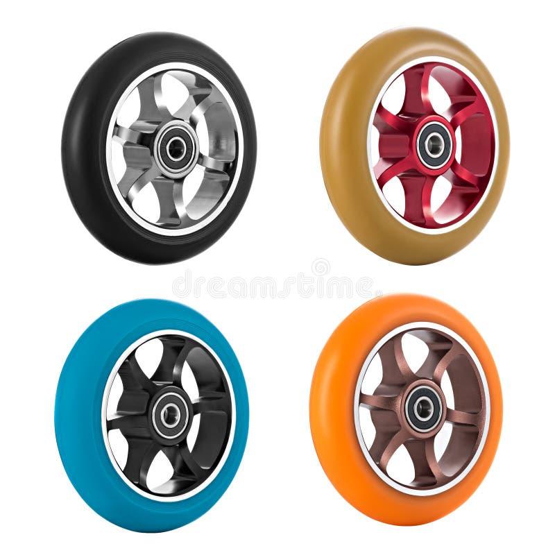 滑行车轮子  向量例证