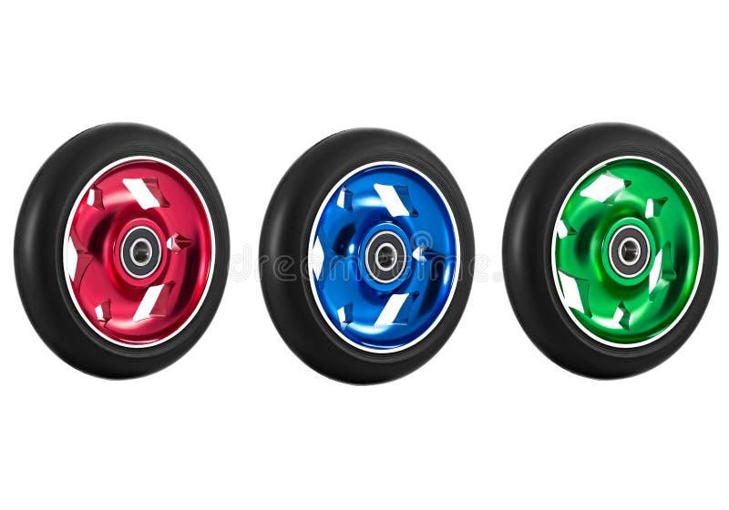 滑行车轮子  免版税图库摄影