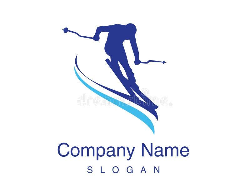 滑雪传染媒介商标 库存例证