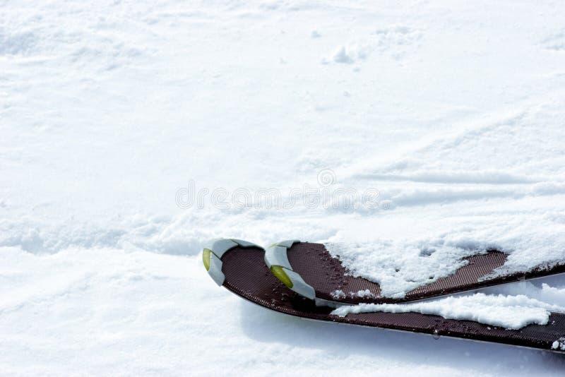 滑雪倾斜 库存照片