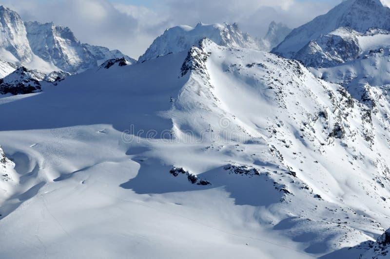滑雪原野 库存照片