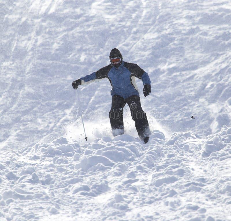 滑雪在雪的人们 图库摄影