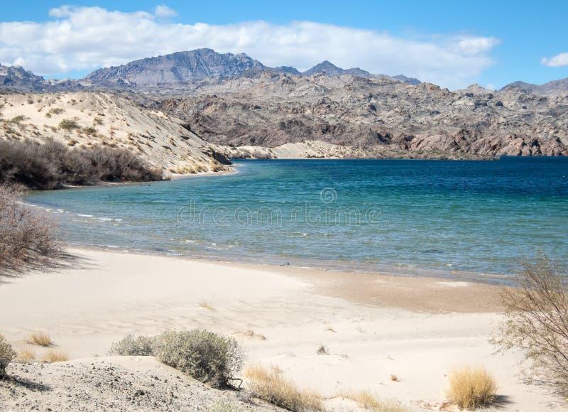 滑雪小海湾,湖莫哈维族,亚利桑那 免版税图库摄影