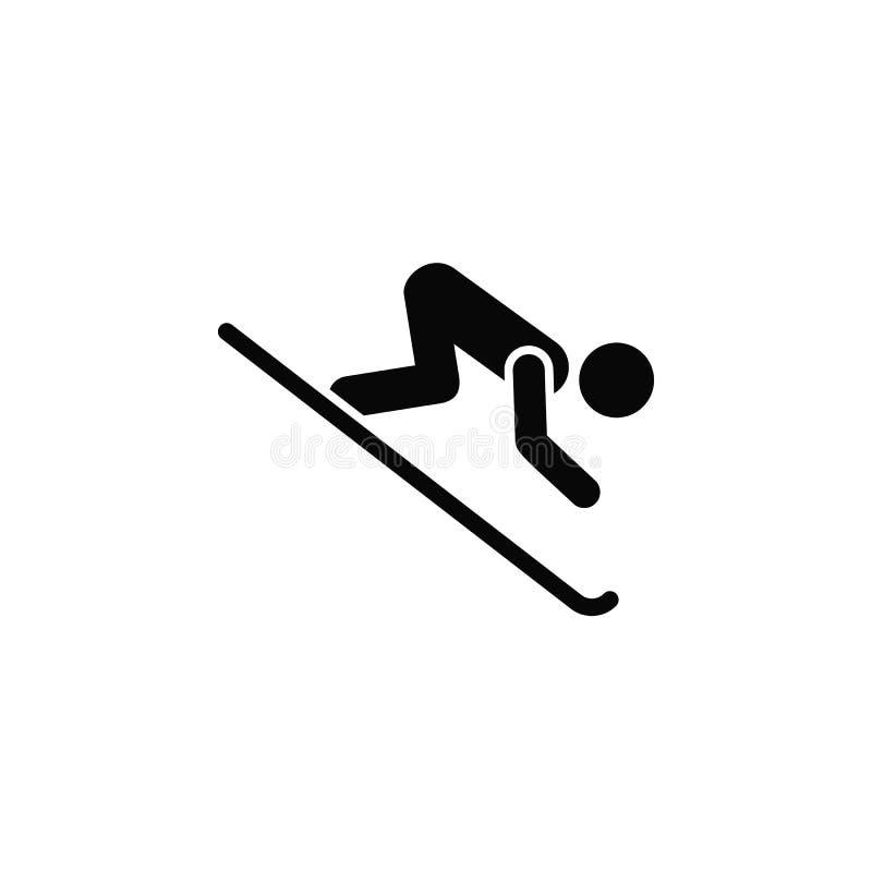 滑雪的剪影,象 简单的象,网络设计,流动应用程序,infographics的元素网站的 网站的重线象 库存例证