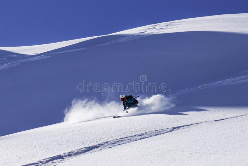 滑雪的verbier滑雪场地外 免版税库存照片