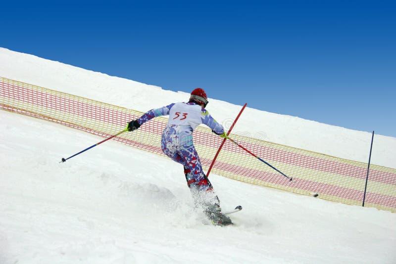 滑雪者。 免版税库存照片