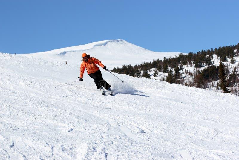 滑雪者妇女 免版税库存照片