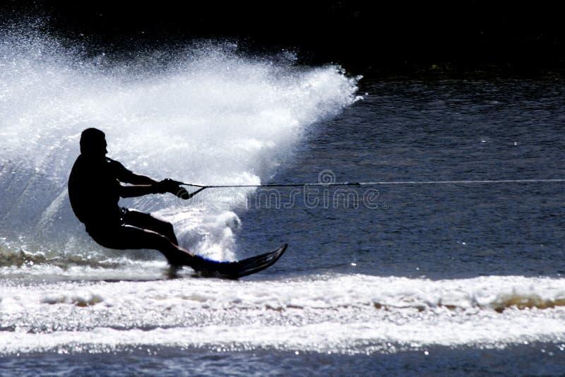 滑雪者水 图库摄影