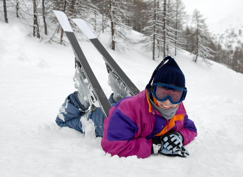 滑雪者 图库摄影