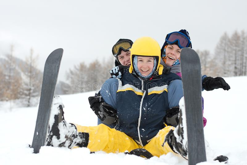 滑雪者 免版税库存照片