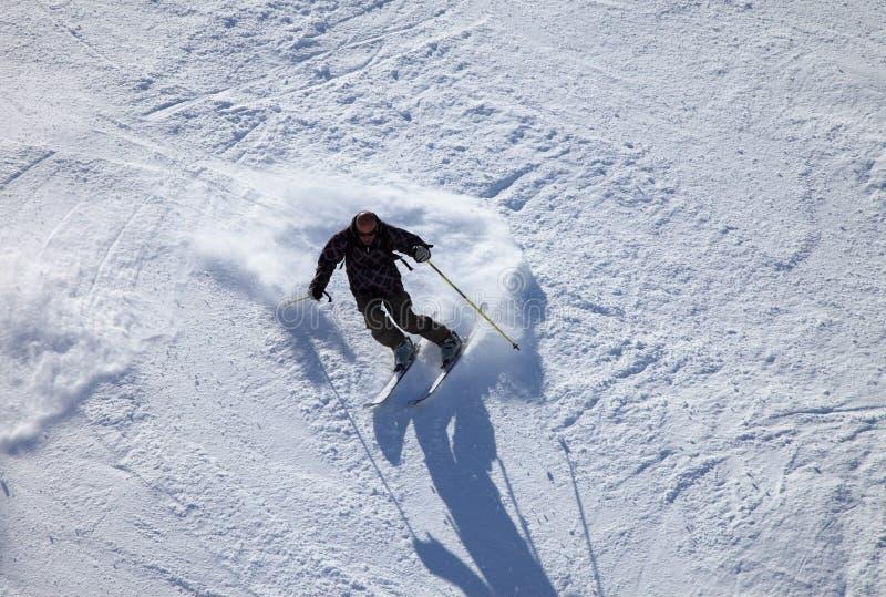滑雪者 库存图片