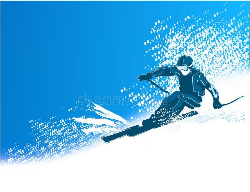滑雪者 向量例证