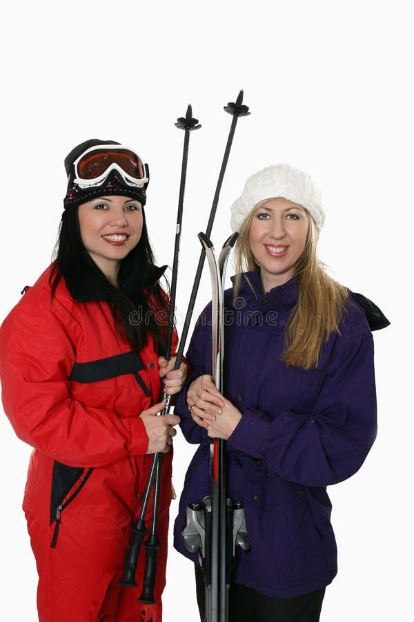 滑雪行程 免版税库存图片