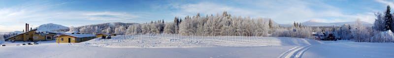 滑雪谷 免版税图库摄影