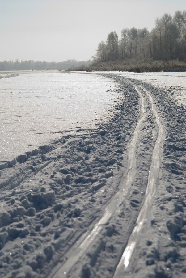 滑雪跟踪 库存图片