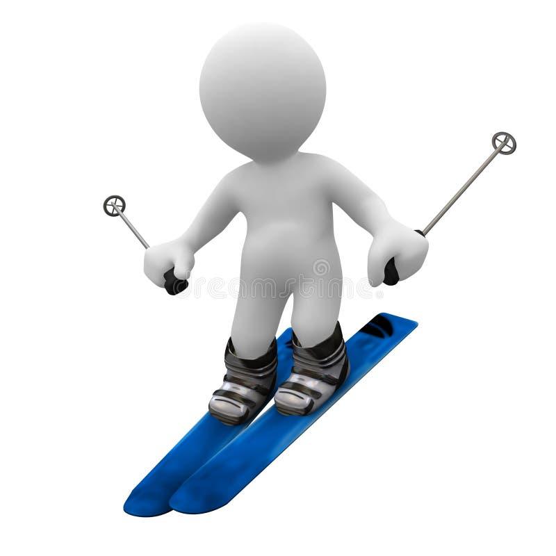 滑雪 向量例证