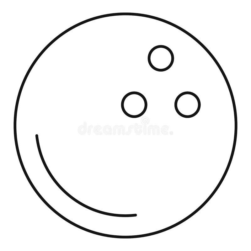 滚保龄球的新的球象,概述样式 库存例证